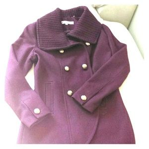 Mulberry wool coat
